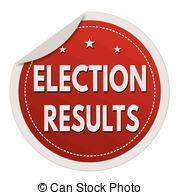 red circle with words Election Results