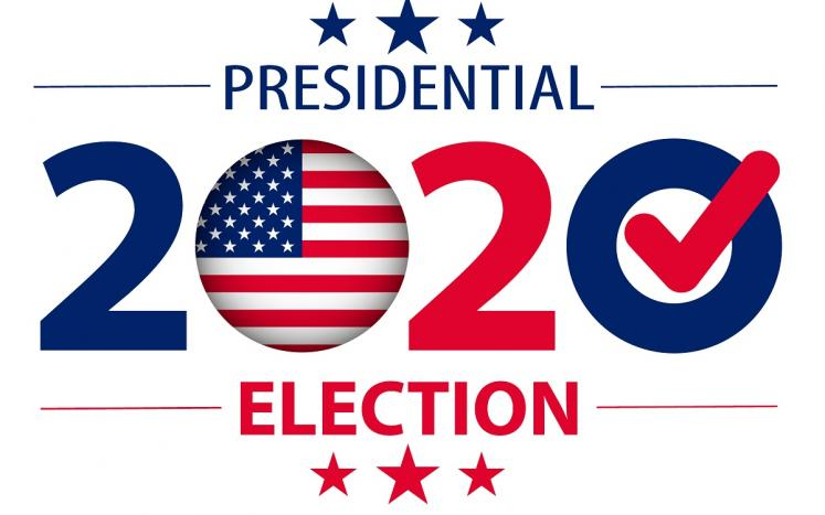 PRESIDENTIAL ELECTION 2020 RED WHITE AND BLUE