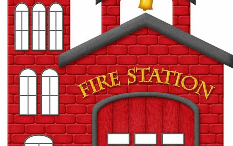 fire station with words FIRE STATION