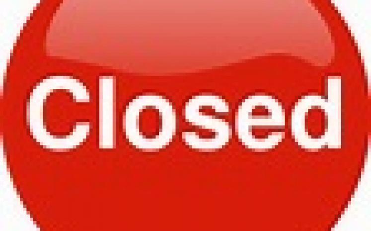 Closed Monday - 9/27/2021